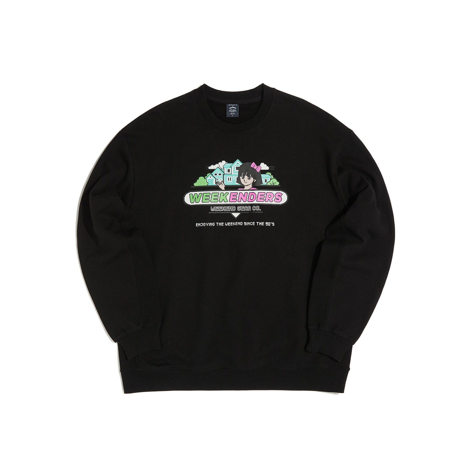 SWEET 90's  SWEATSHIRT (BLACK)