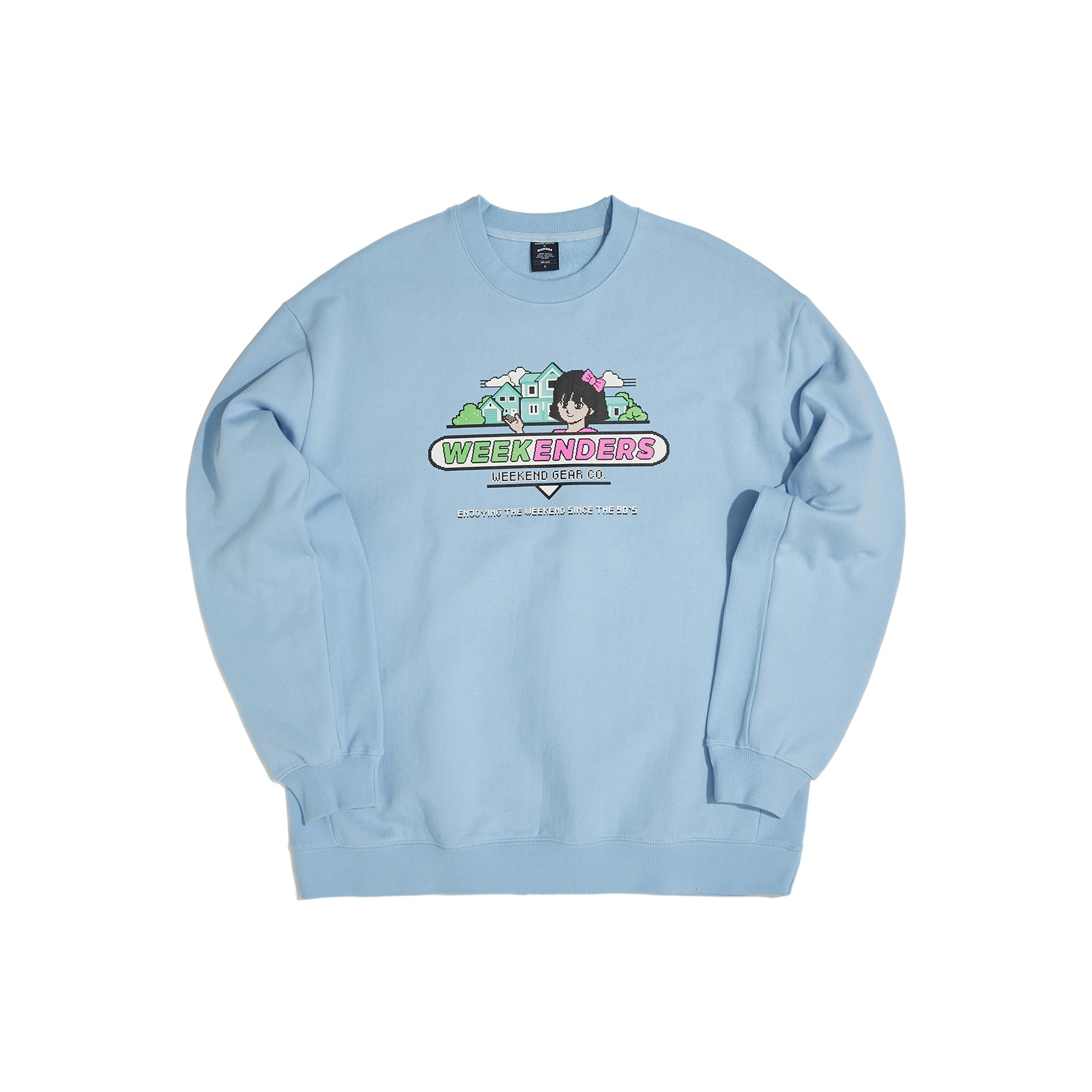SWEET 90's  SWEATSHIRT (S.BLUE)