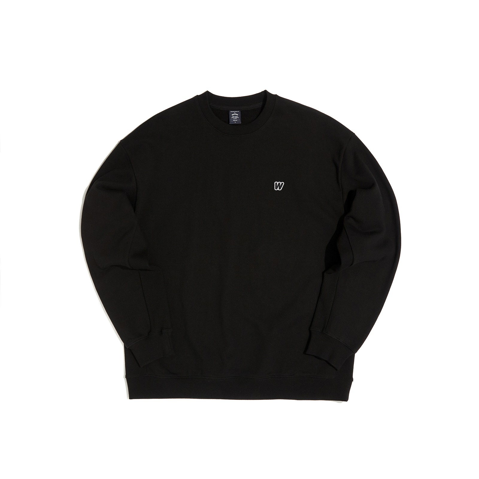 W LOGO SWEATSHIRT (BLACK)