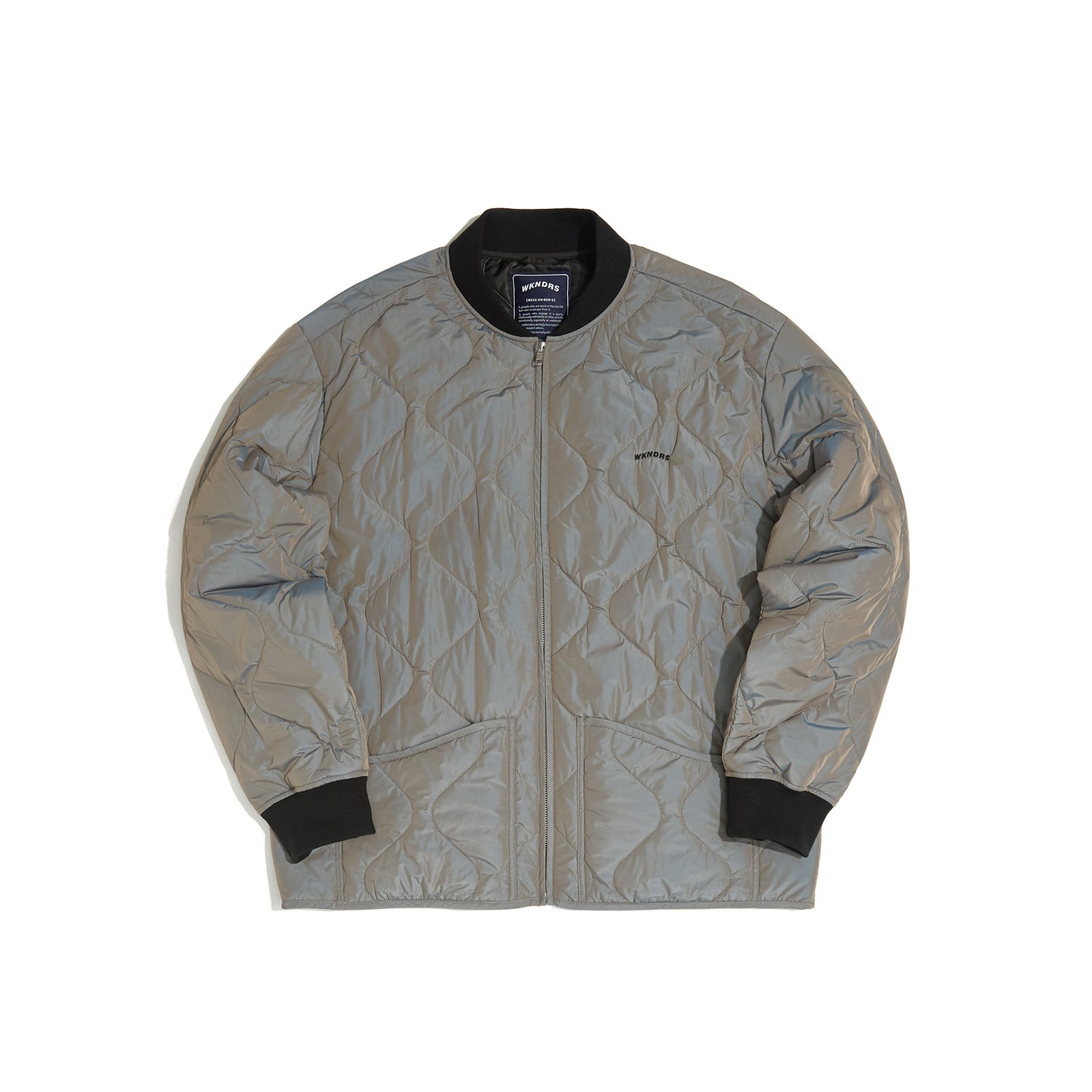 QUILTIED JACKET (GREY)