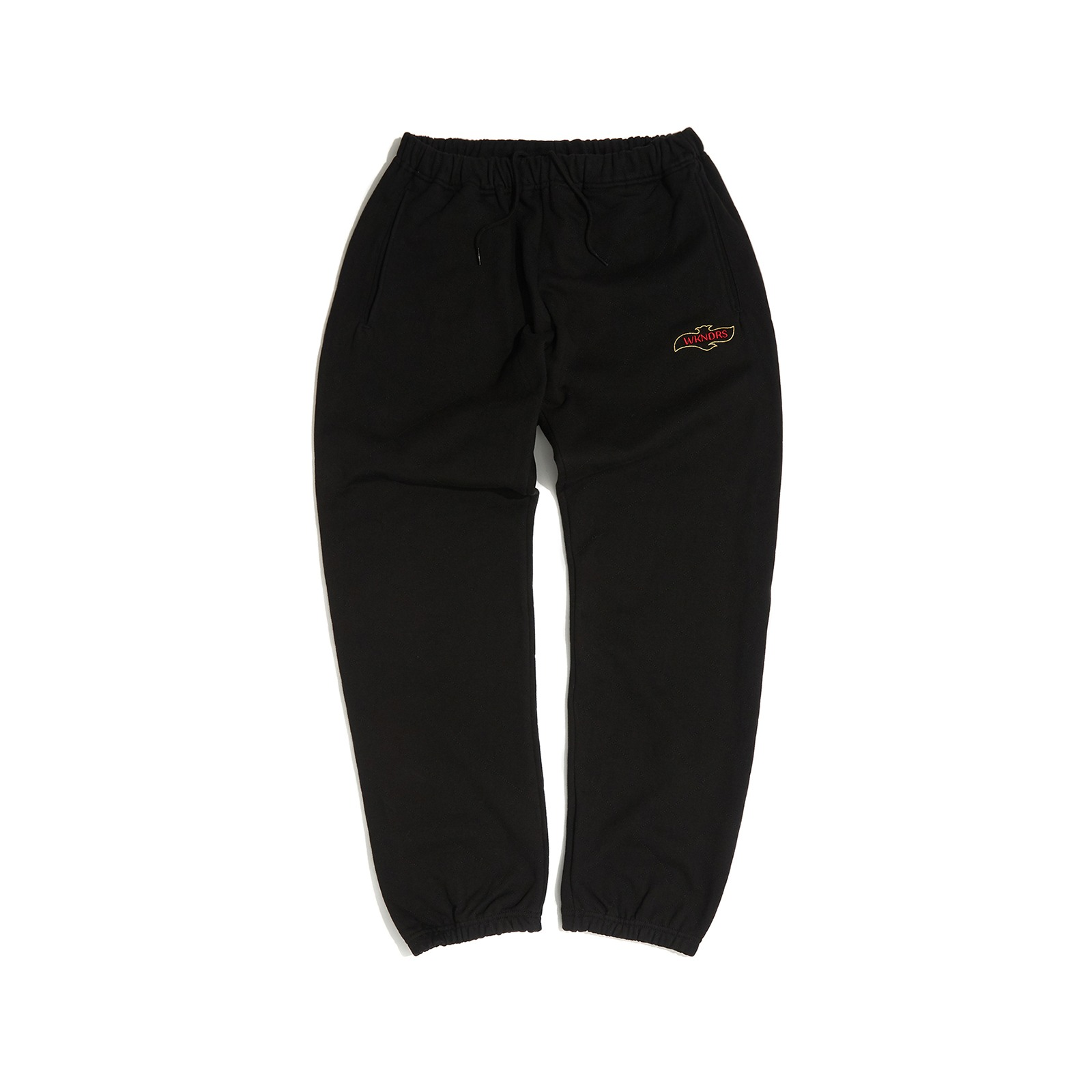 QUILTIED SWEAT PANTS (BLACK)