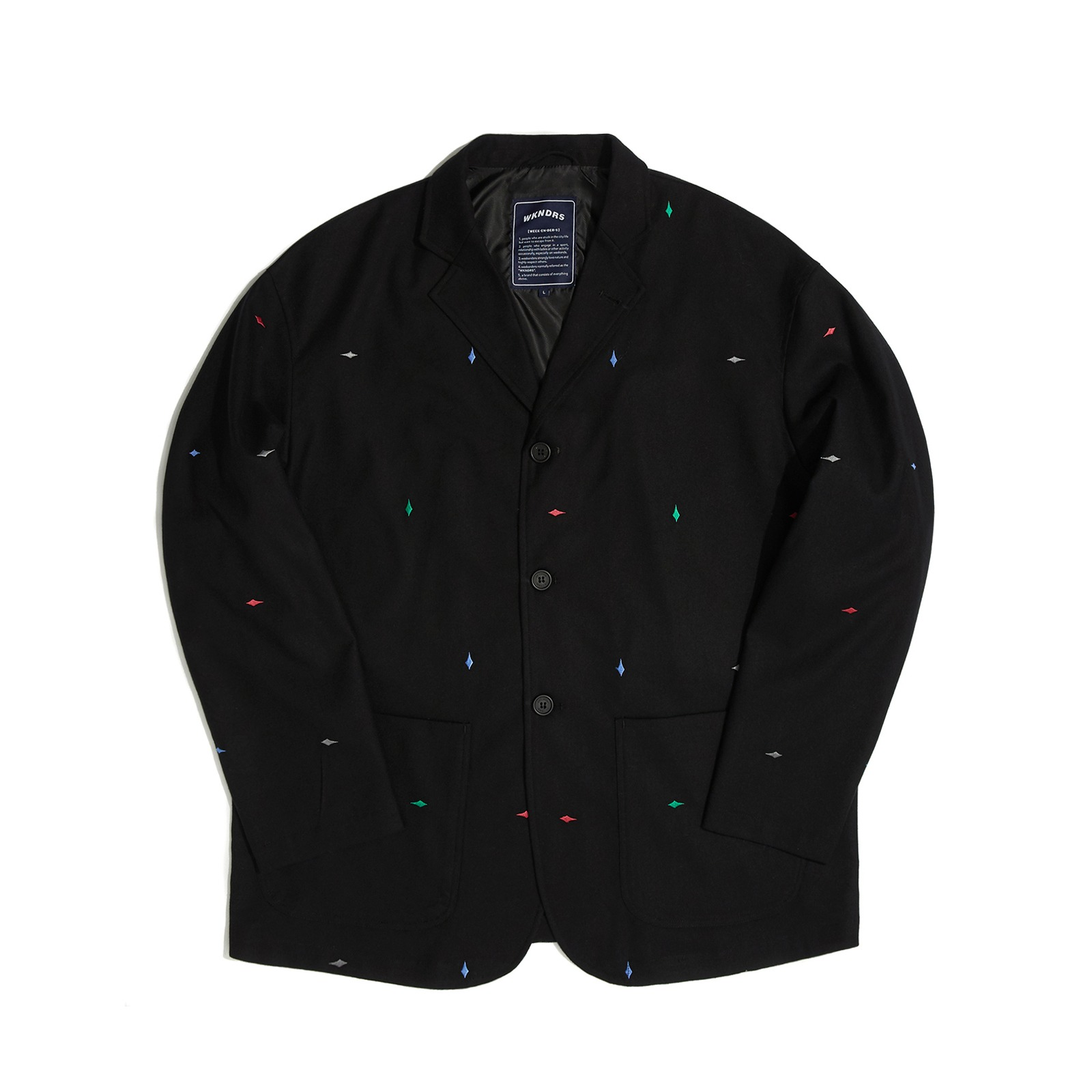 DIAMOND EMBROIDERY  JACKET (BLACK)