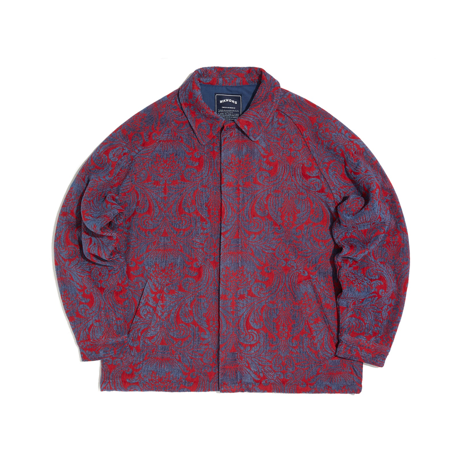 FLORAL JACQUARD JACKET (RED)
