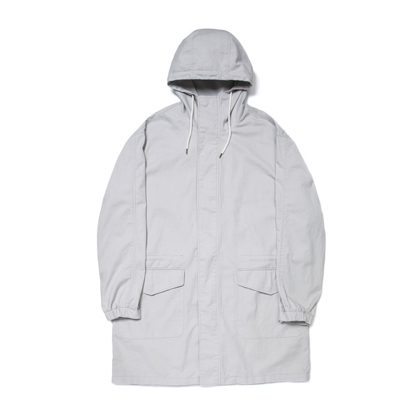 HOODED PARKA COAT (L.GREY)