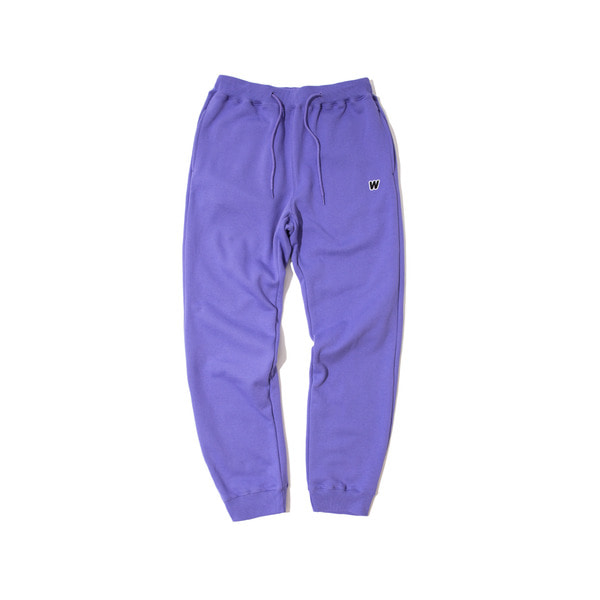 W LOGO SWEAT PANTS (PURPLE)