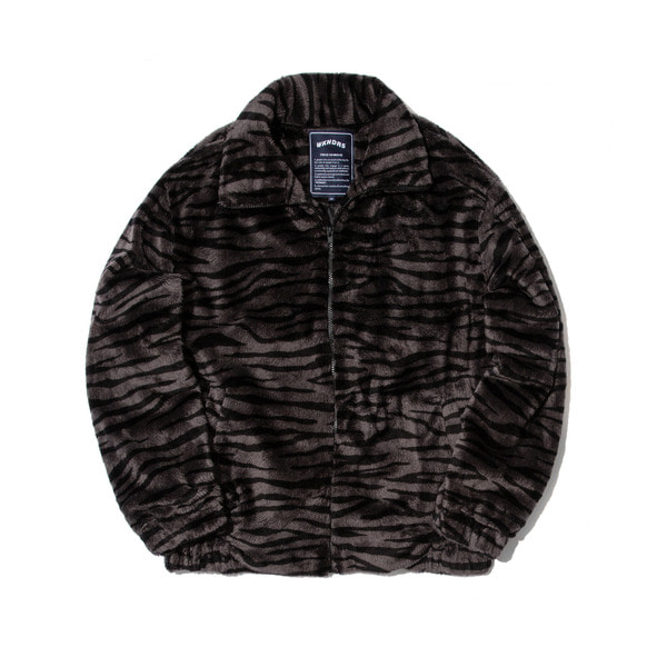 TIGER FUR PATTERN JK (CHARCOAL)