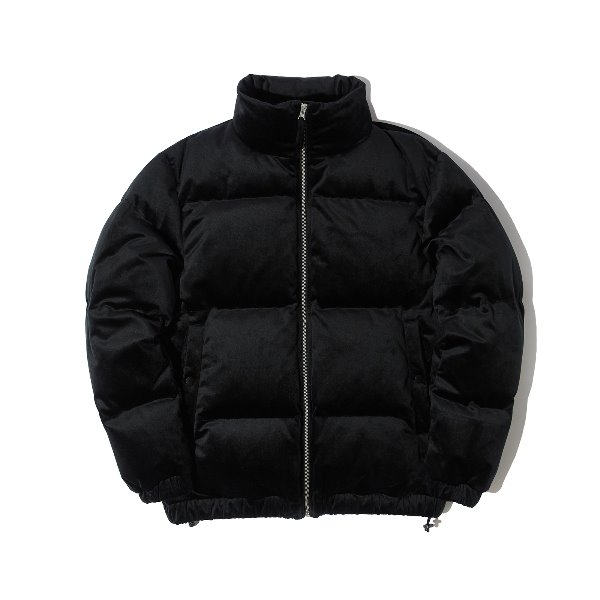 VELVET DOWN JACKET (BLACK)