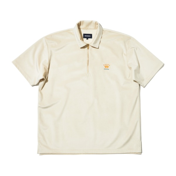 VELVET SS POLO SHIRT (WHITE)
