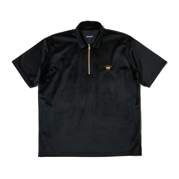 VELVET SS POLO SHIRT (BLACK)