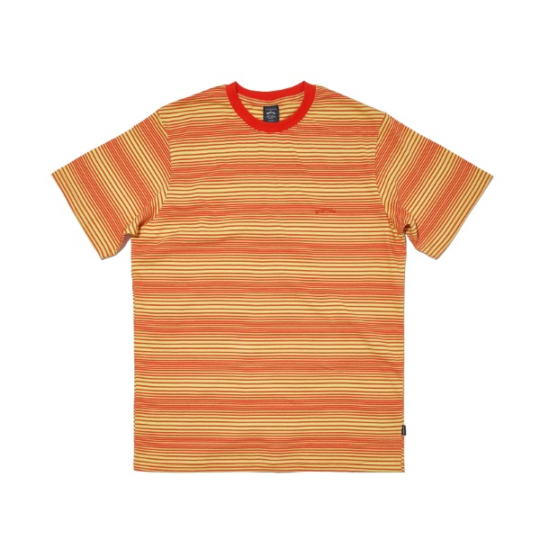 STRIPED WAVY SS T-SHIRT (YELLOW)