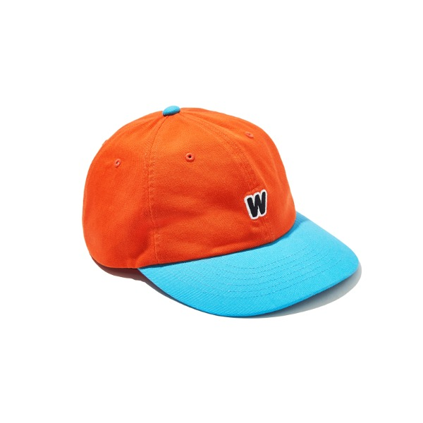 W LOGO COLOR CAP (ORANGE)