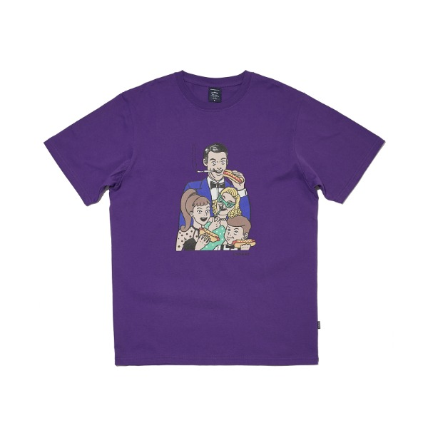 VEGAS FAMILY SS T-SHIRT (PURPLE)