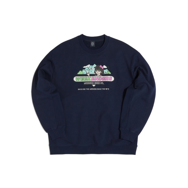 SWEET 90's  SWEATSHIRT (NAVY)