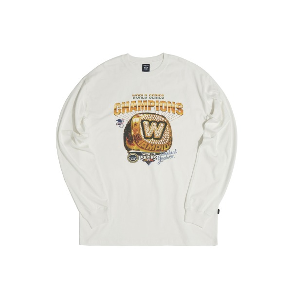 COLLEGE RING LS T-SHIRT (WHITE)