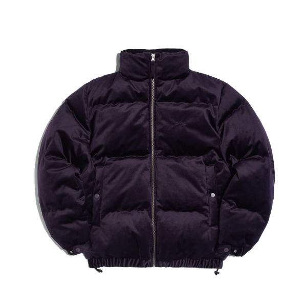 VELVET DOWN JACKET (PURPLE)