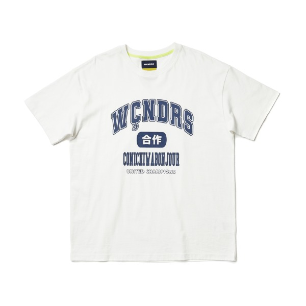 COLLEGE SS T-SHIRT (WHITE)