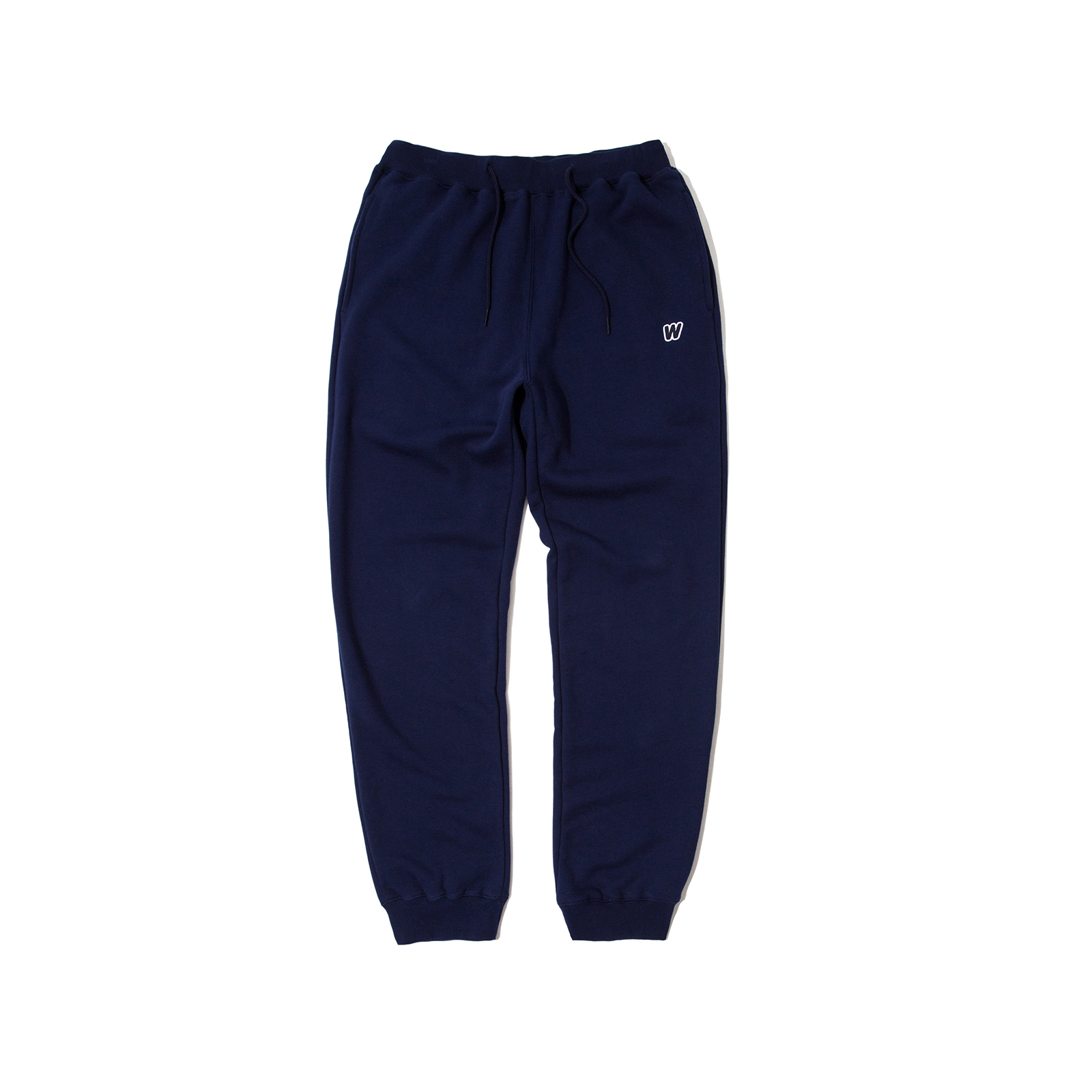 W LOGO SWEAT PANTS (NAVY)