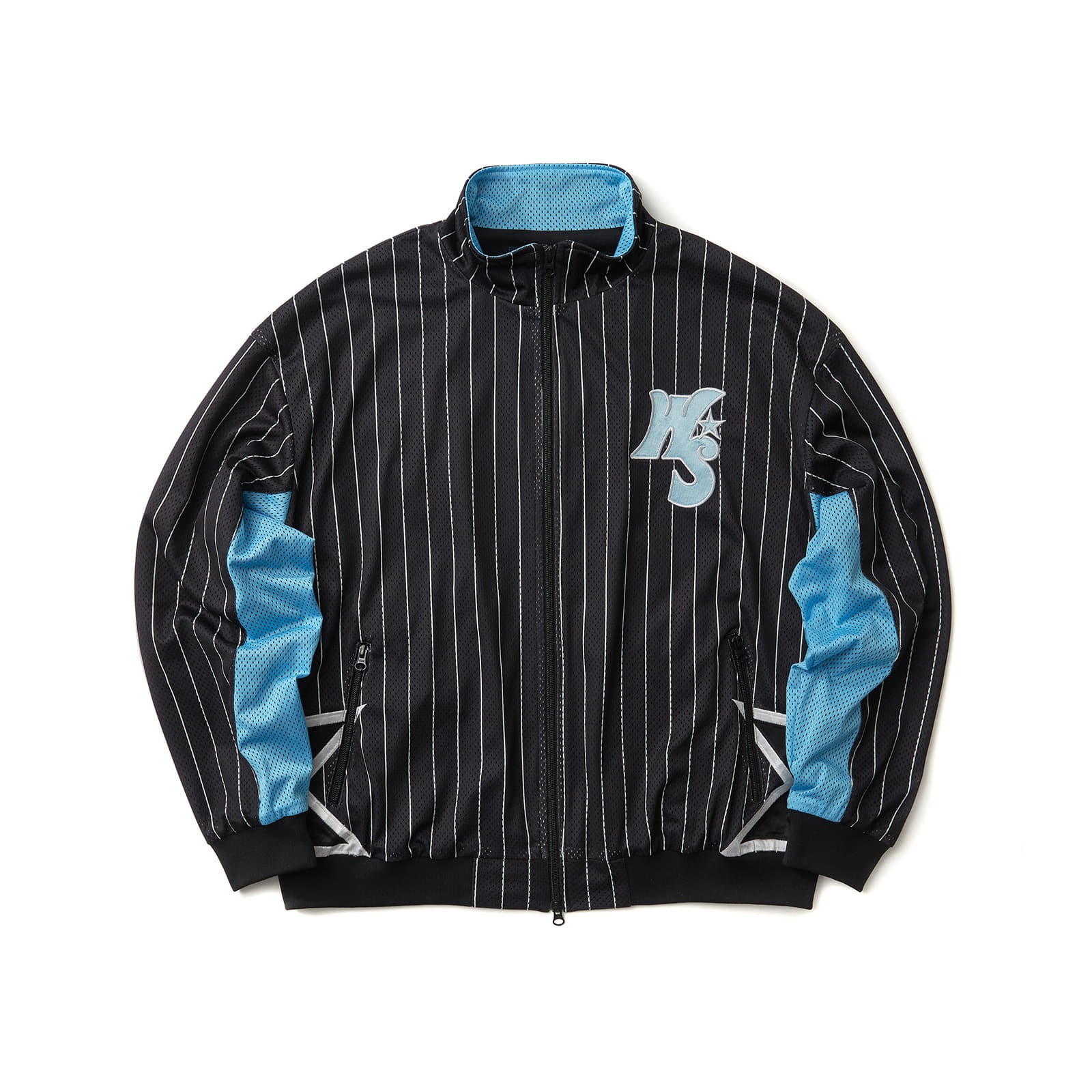 STRIPED PLAYER JACKET (BLACK)