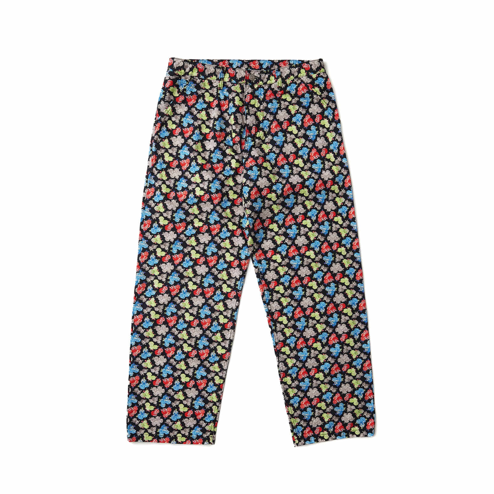 FLORAL OXFORD PANTS (BLACK)