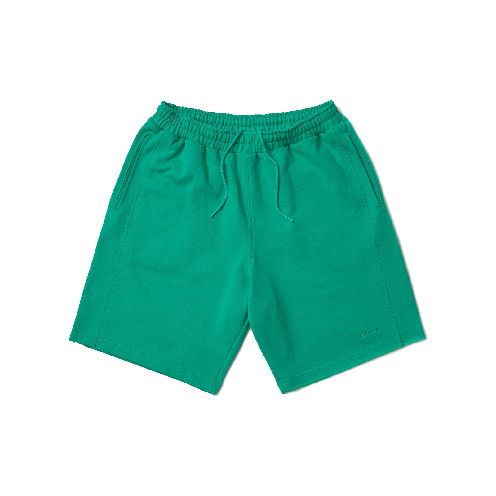 RAW EDGE SWEATSHORT (GREEN)