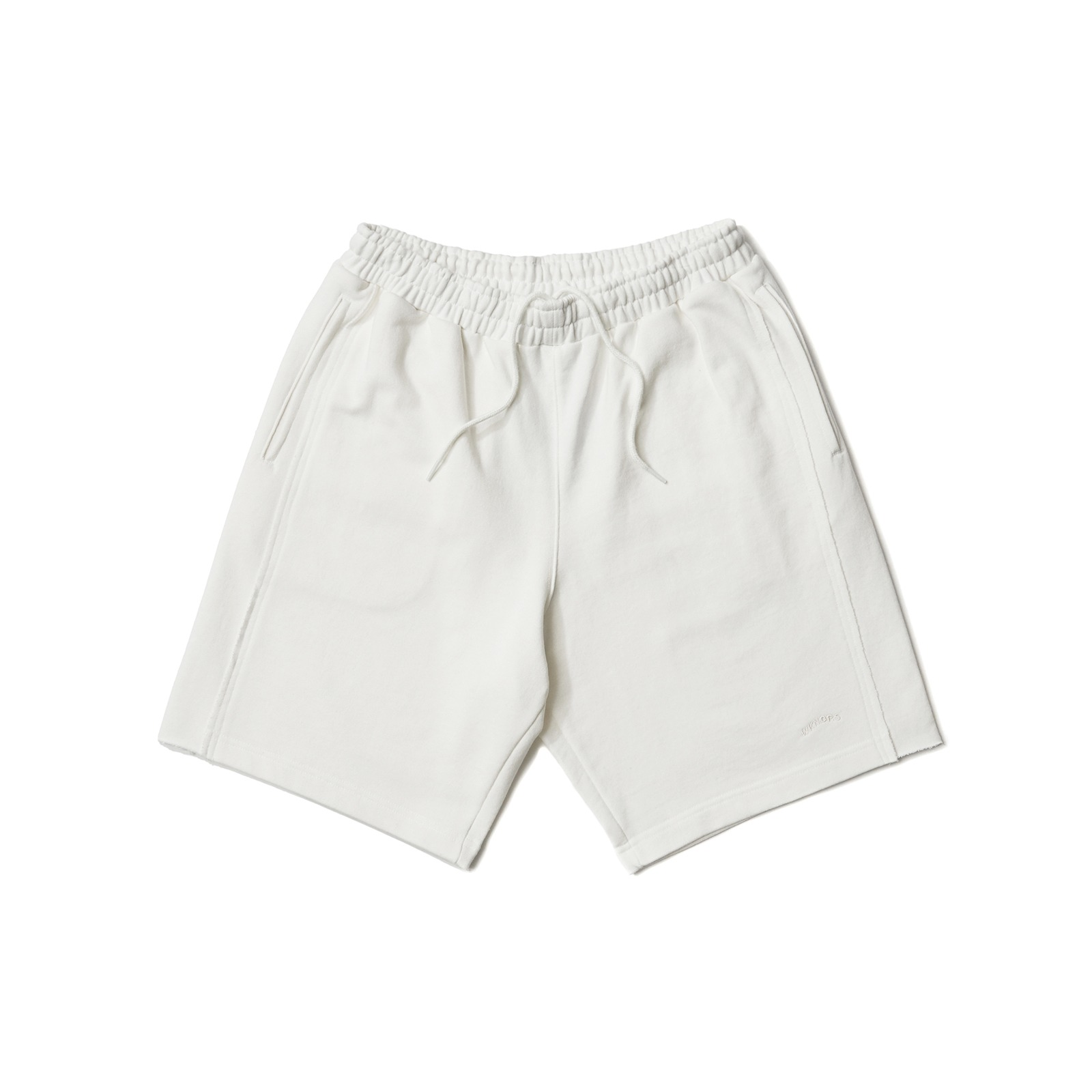 RAW EDGE SWEATSHORT (WHITE)