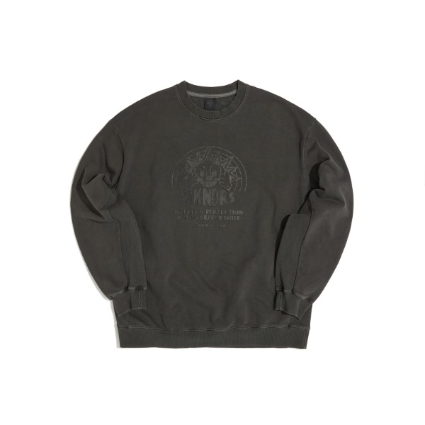 SMILE SWEATSHIRT (CHARCOAL)