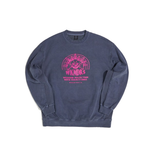 SMILE SWEATSHIRT (BLUE)
