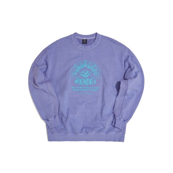 SMILE SWEATSHIRT (L.PURPLE)