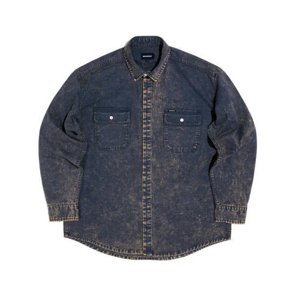 SNOW WASH COTTON SHIRT (NAVY)