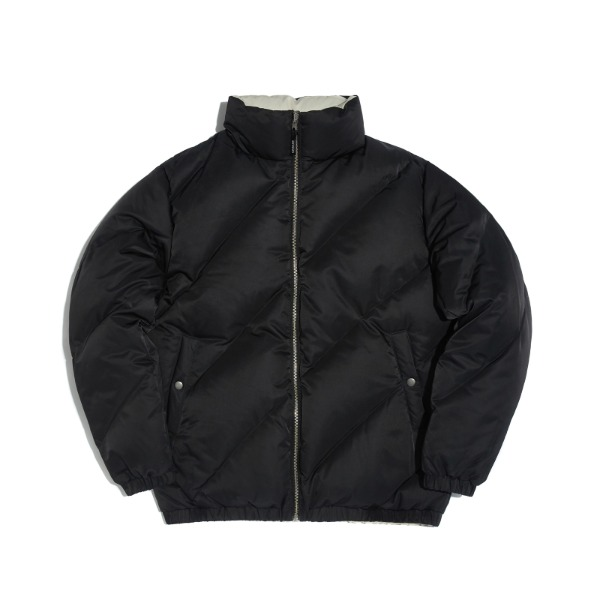 WAVY REVERSIBLE DOWN JACKET (BLACK)