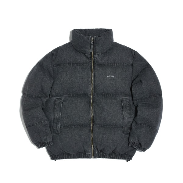 DENIM DOWN JACKET (BLACK)