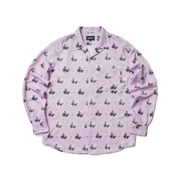 PAISLEY L/S SHIRT (L.PURPLE)