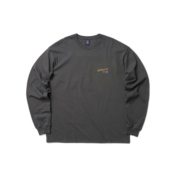 HEAVY TOYS LS T-SHIRT (CHARCOAL)