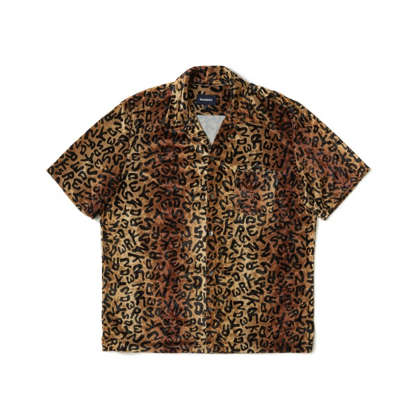 VELVET DRILL SS SHIRT (BROWN)