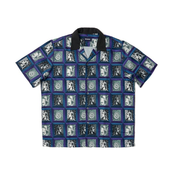 PORTRAIT GRID SS SHIRT (PURPLE)