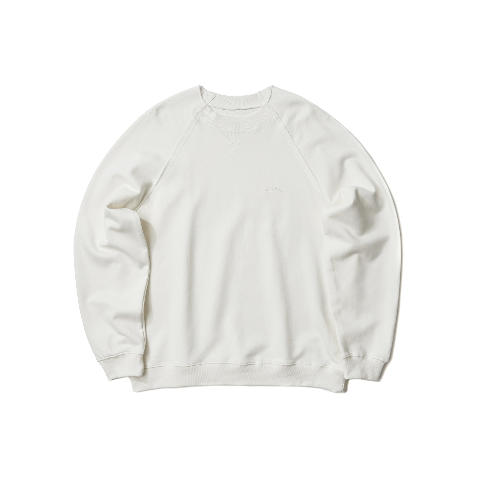 RAW EDGE SWEATSHIRT (WHITE)